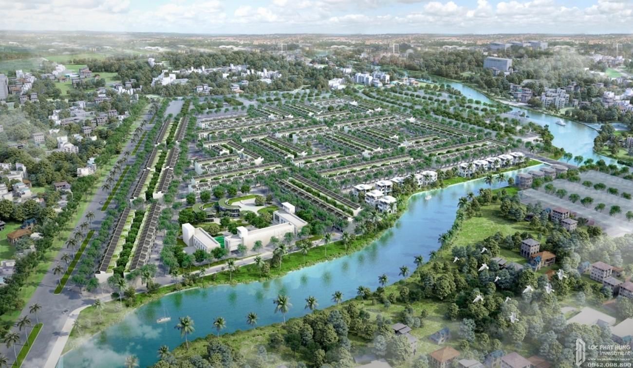 Phối cảnh tổng thể dự án đất nền T&T Millennia City Cần Giuộc Đường Lê Văn Lương chủ đầu tư T&T Group
