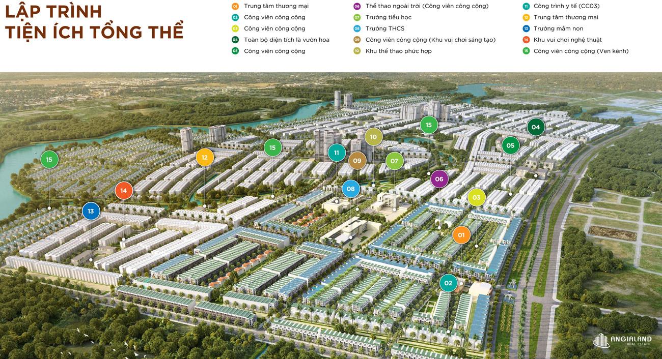 Sơ đồ bố trí tiện ích dự án T&T Millennia City Long Hậu