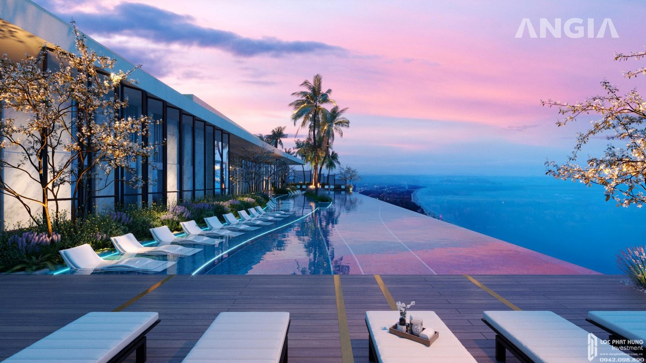 Phối cảnh dự án căn hộ condotel The Sóng Vũng Tàu tọa lạc tại mặt tiền đường Thi Sách sát bên bãi biển Thùy Vân