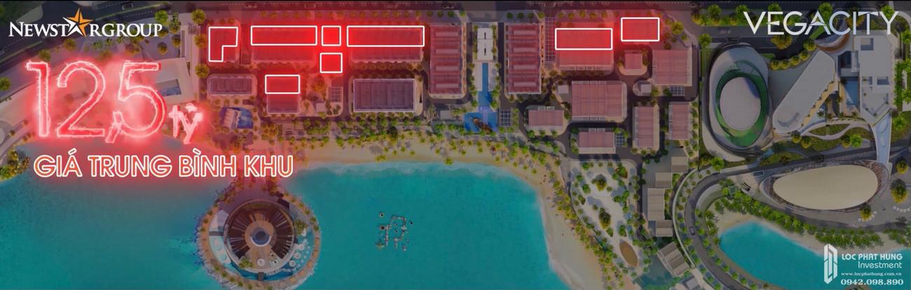 Giá bán dự kiến dự án Vega City Bãi Tiên Nha Trang chủ đầu tư KDI Holdings