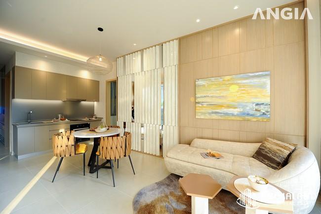 Phòng khách full - Nhà mẫu 72m2 The Sóng Vũng Tàu