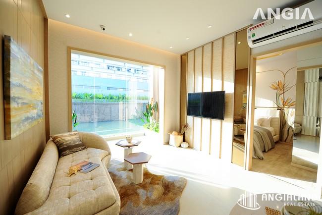 Phòng khách view 1 - Nhà mẫu 72m2 The Sóng Vũng Tàu