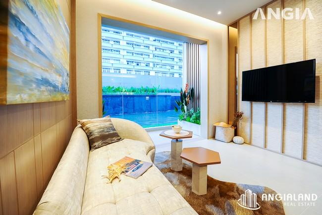 Phòng khách view 2 - Nhà mẫu 72m2 The Sóng Vũng Tàu