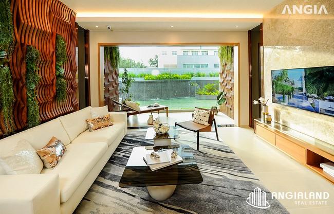 Phòng khách view 1 - Nhà mẫu 122m2 The Sóng Vũng Tàu
