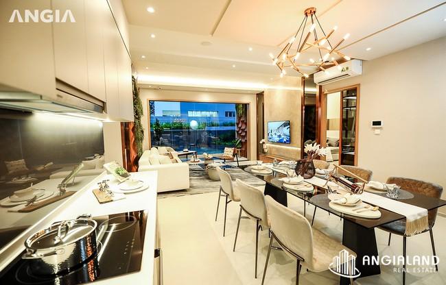 Phòng khách view 4 - Nhà mẫu 122m2 The Sóng Vũng Tàu