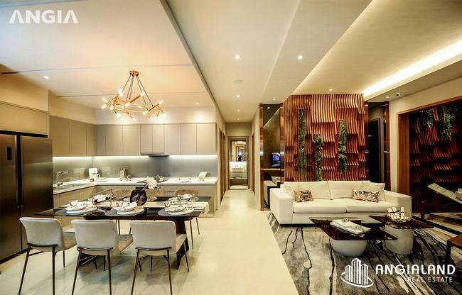 Phòng khách view 5 - Nhà mẫu 122m2 The Sóng Vũng Tàu