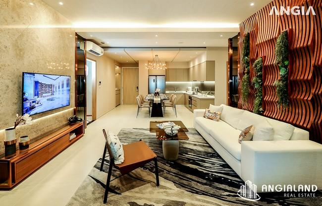 Phòng khách view 6 - Nhà mẫu 122m2 The Sóng Vũng Tàu