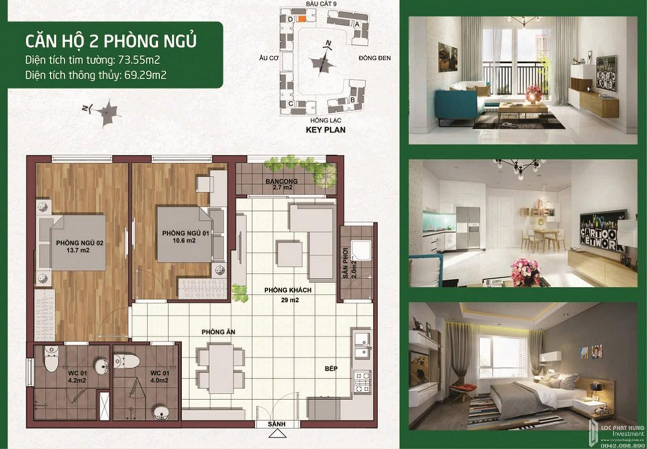 Thiết kế dự án căn hộ chung cư Palacio Garden Tân Bình Đường 678 Âu Cơ chủ đầu tư Seaprodexsg