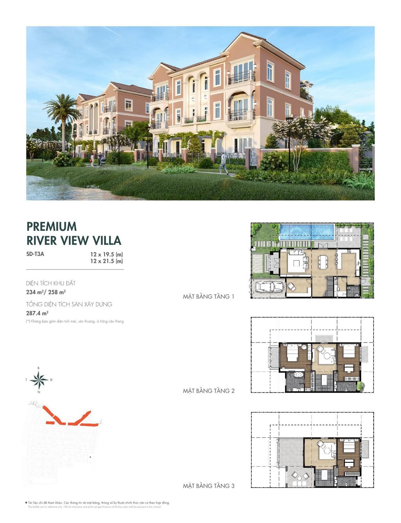 Thiết kế dự án nhà phố Aqua City The River Park 1 TP. Biên Hòa Đường Ngô Quyền nhà phát triển Novaland