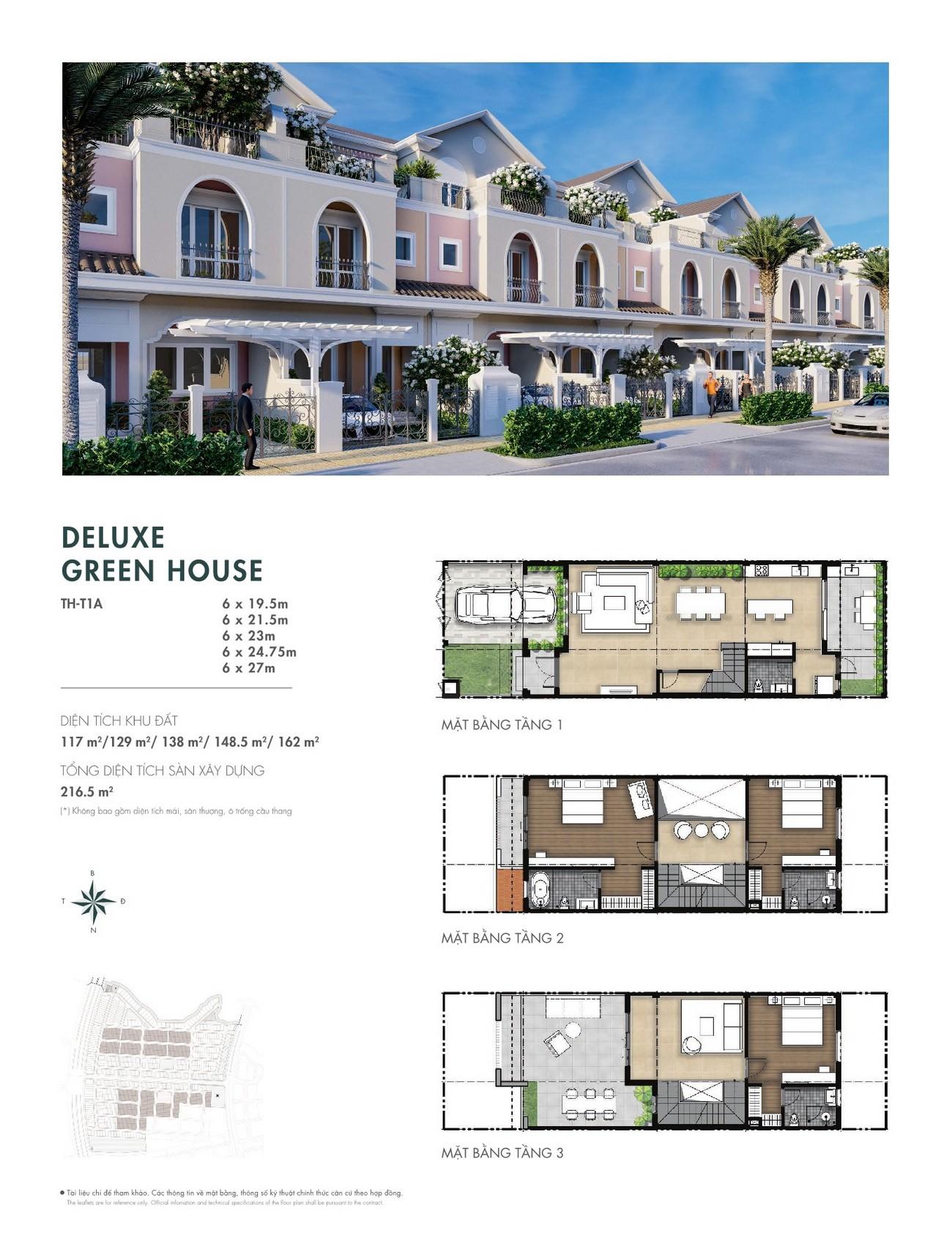 Thiết kế Deluxe Green House dự án nhà phố Aqua City The River Park 1 TP. Biên Hòa Đường Ngô Quyền nhà phát triển Novaland