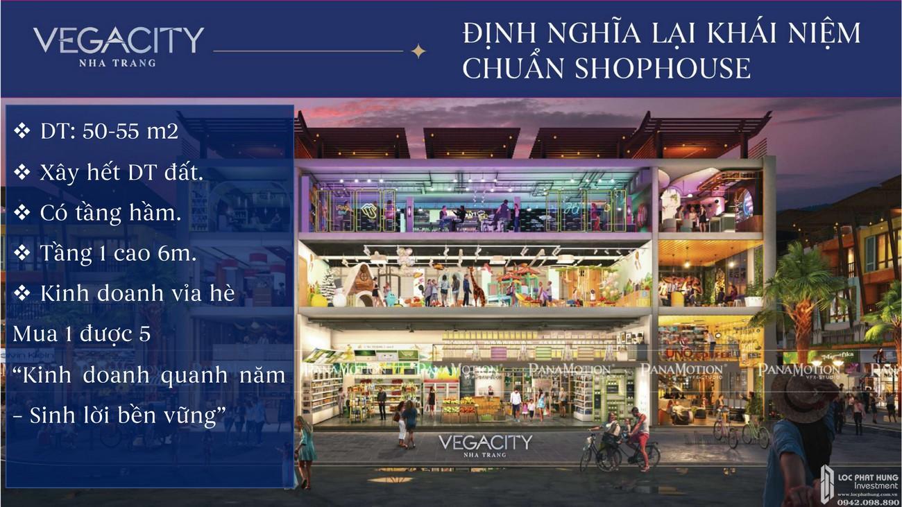 Thiết kế Shophouse dự án Vega City Bãi Tiên Nha Trang chủ đầu tư KDI Holdings