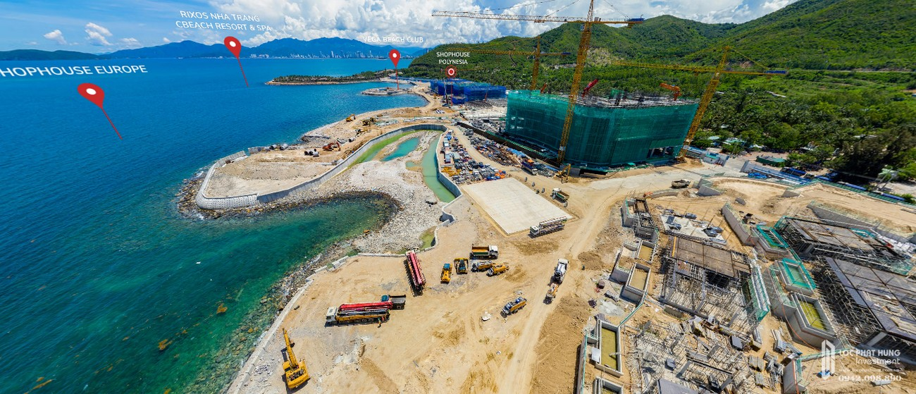 Tiến độ dự án Biệt thự, nhà phố Vega City Bãi Tiên Nha Trang chủ đầu tư KDI Holdings