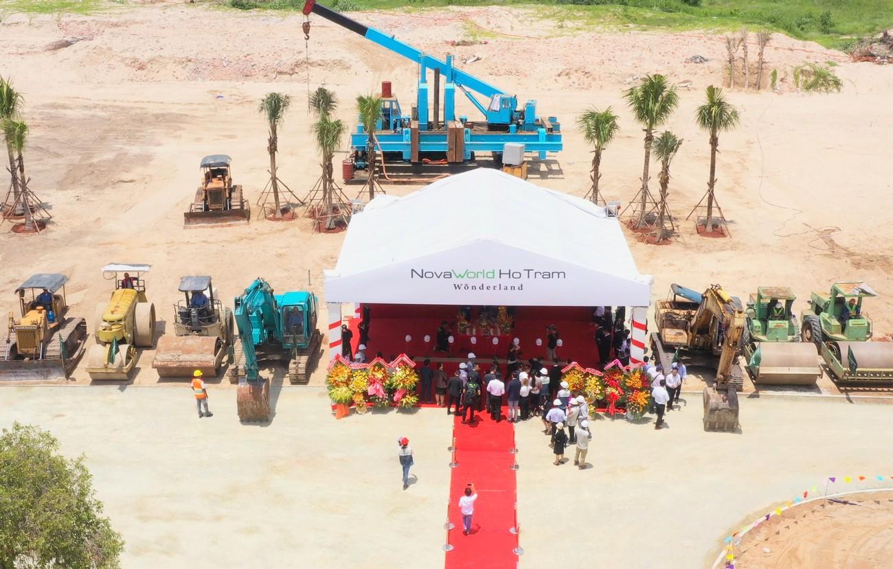 Tiến độ dự án nhà phố Novaworld Hồ Tràm Wonderland Xuyên Mộc Đường Phước Thuận chủ đầu tư Novaland