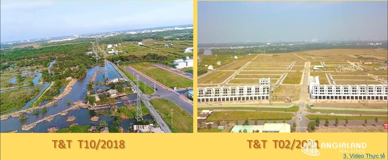 Tiến độ xây dựng T&T Milllennia City Long Hậu thagns 08/2021
