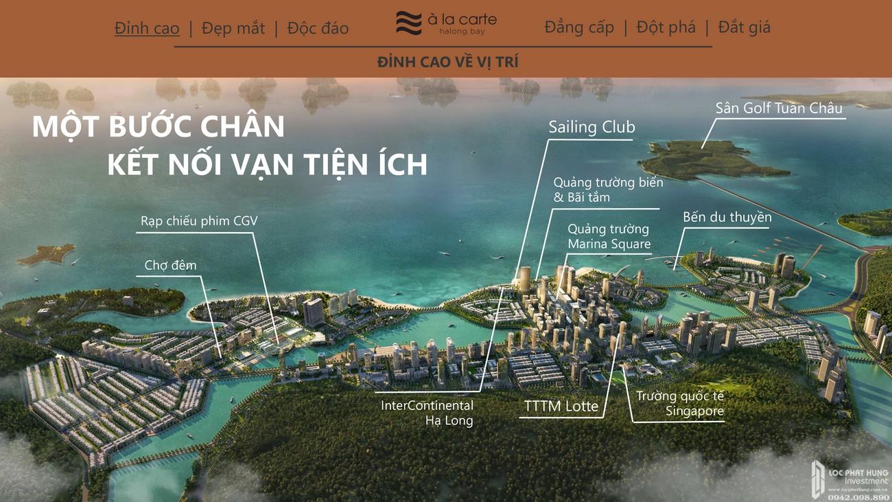 Vị trí siêu lợi thế dự án Condotel À La Carte Halong Bay Hạ Long Đường Mặt Vịnh Hạ Long chủ đầu tư TASECO Land