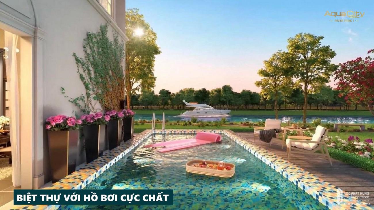 Tiện ích dự án nhà phố Aqua City The River Park 1 TP. Biên Hòa Đường Ngô Quyền nhà phát triển Novaland