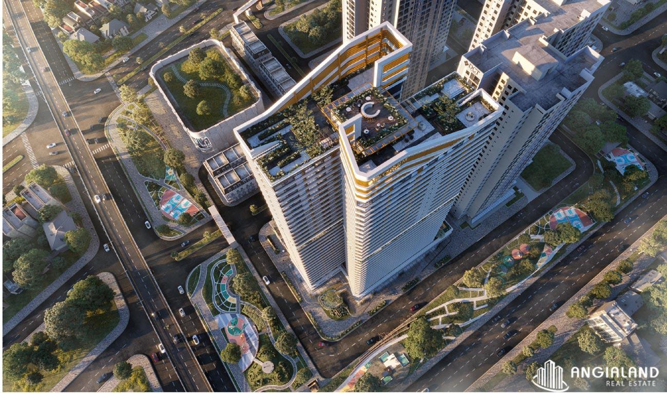 View từ trên cao dự án căn hộ chung cư Charm Diamond TP Dĩ An