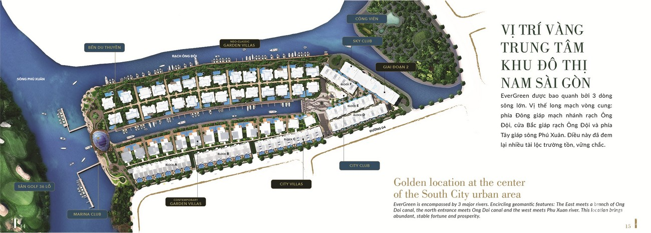 Vị trí địa chỉ dự án biệt thự chung cư TNR Evergreen Quận 7 Đường Nguyễn Lương Bằng chủ đầu tư TNR Holding