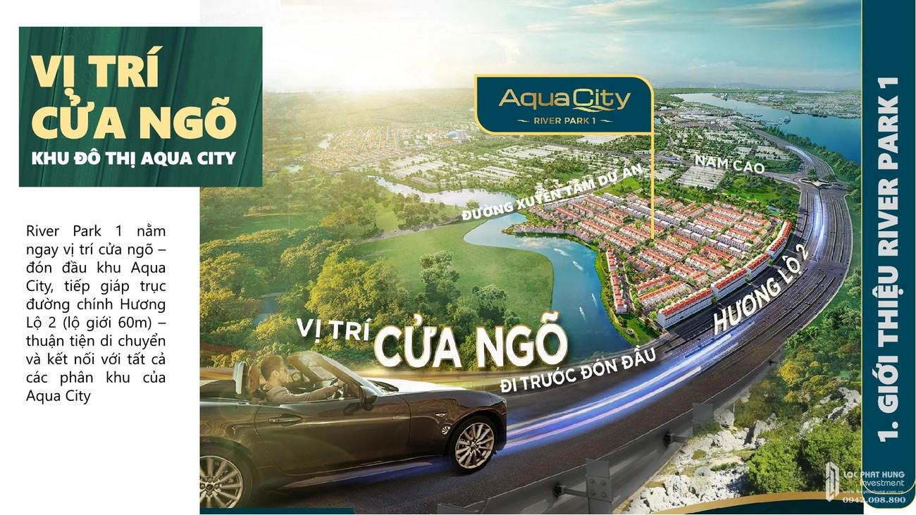 Vị trí địa chỉ dự án nhà phố Aqua City The River Park 1 TP. Biên Hòa Đường Ngô Quyền nhà phát triển Novaland