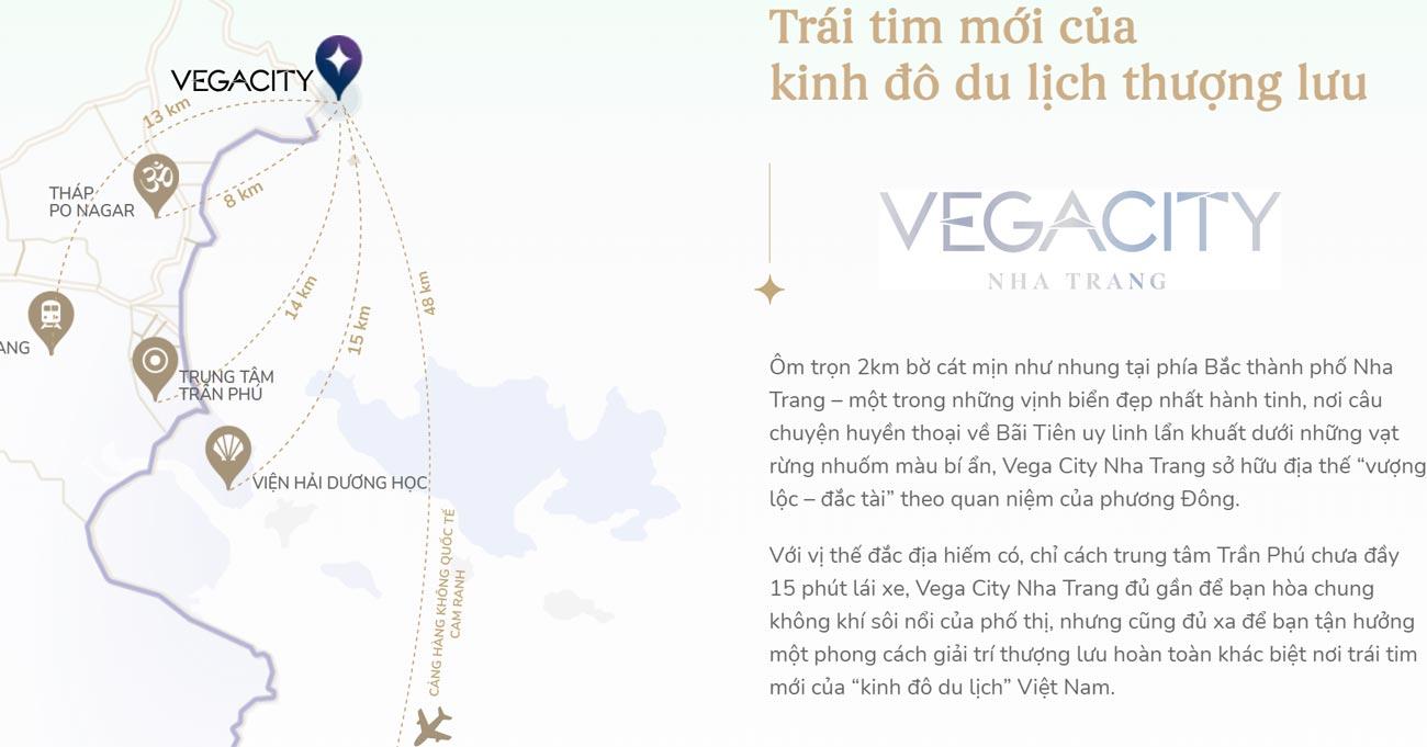 Vị trí địa chỉ toàn khu đô thị Vega City Nha Trang Tỉnh Khánh Hòa