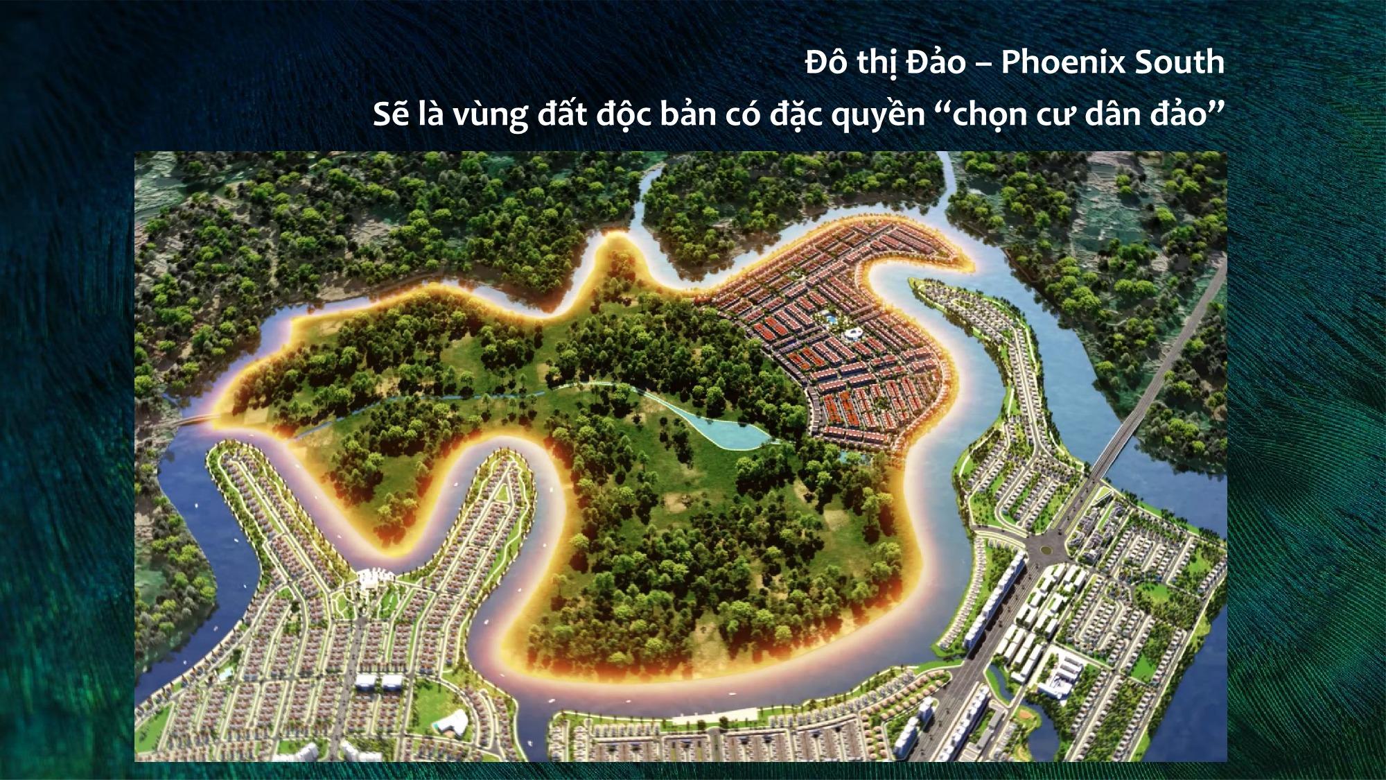 Phối cảnh tổng thể Aqua City phân khu Phoenix South