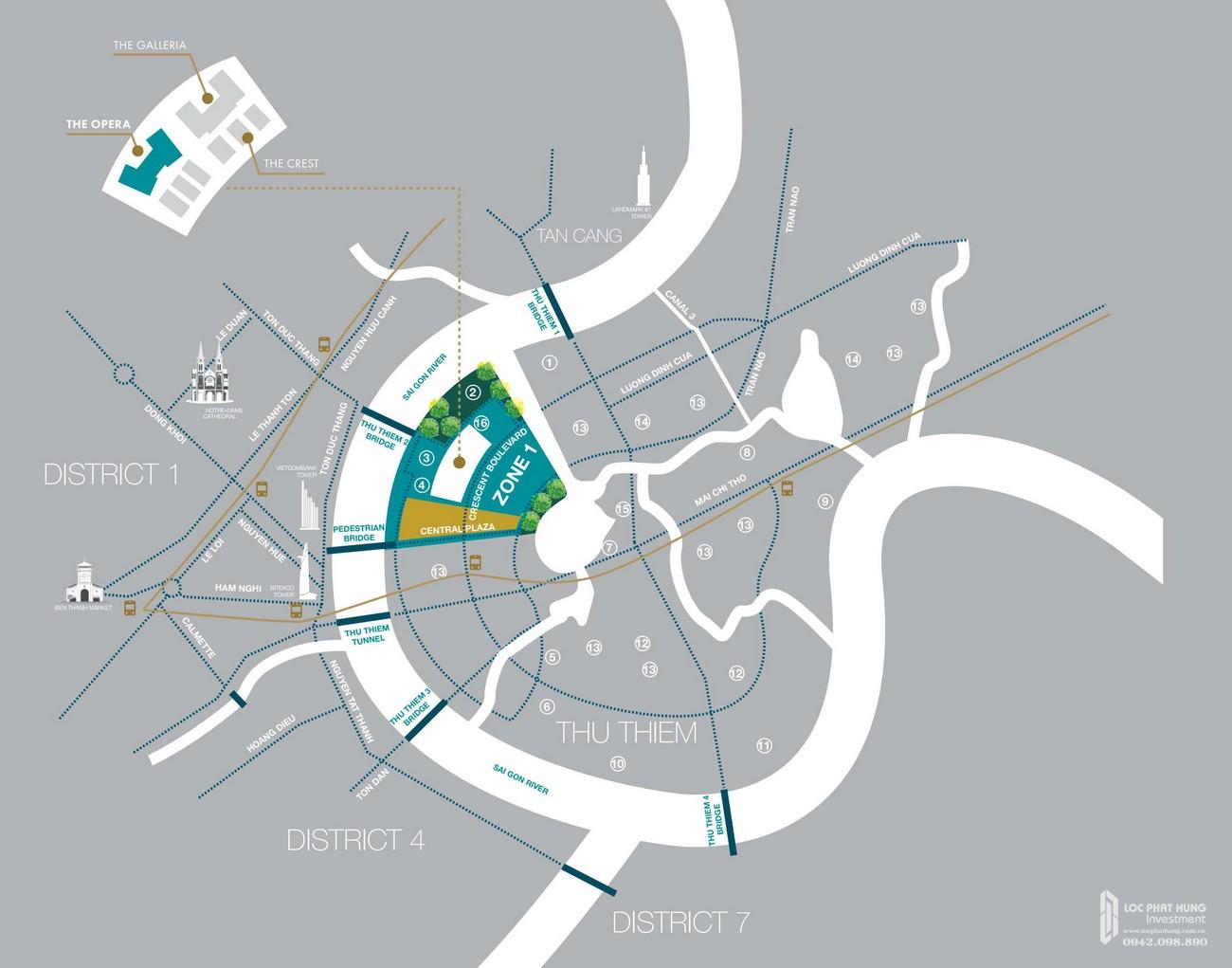Vị trí địa chỉ dự án căn hộ chung cư The Opera Residence Thủ Thiêm chủ đầu tư Sơn Kim Land