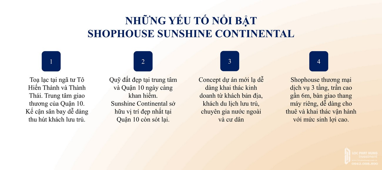 Shophouse dự án căn hộ chung cư Sunshine Continental Quận 10 Đường Tô Hiến Thành chủ đầu tư Sunshine Group