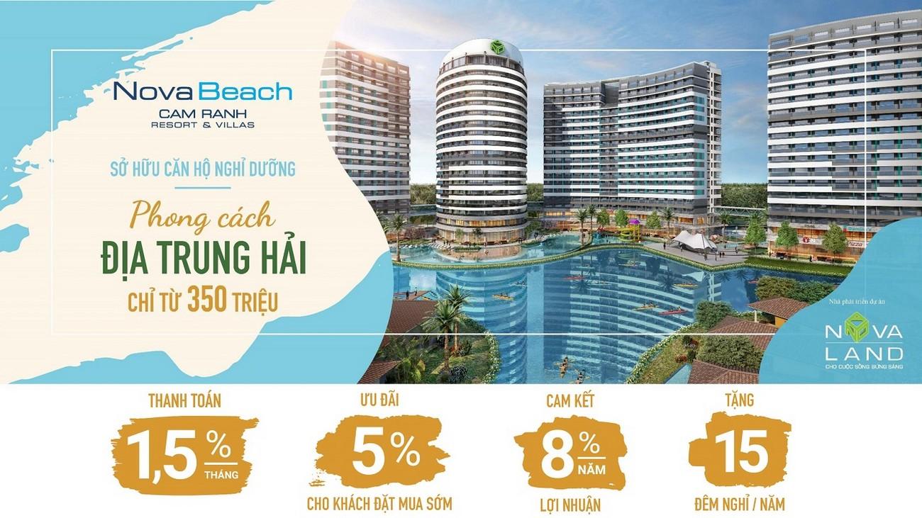 Giới thiệu dự án NovaBeach Cam Ranh Resort & Villas nhà phát triển Novaland