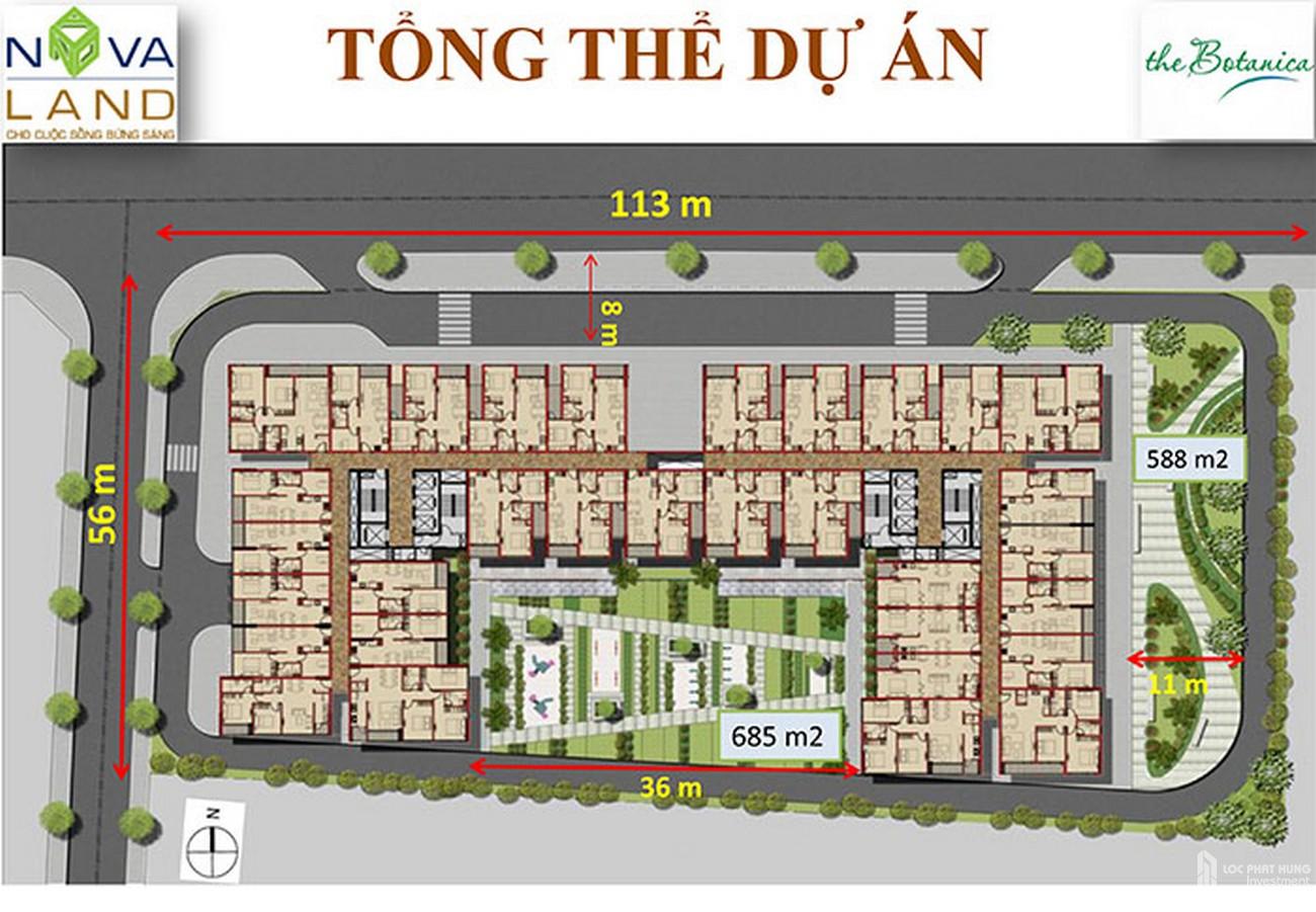Mặt bằng dự án căn hộ chung cư The Botanica Tân Bình  Đường 104 Phổ Quang chủ đầu tư Novaland