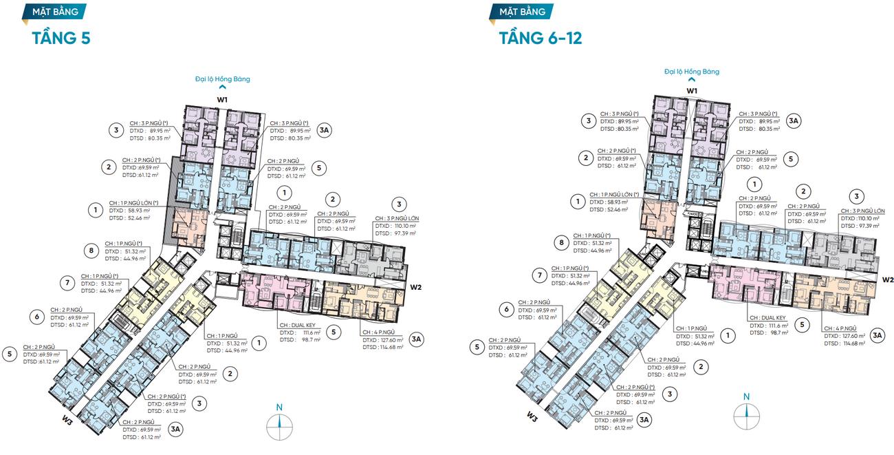 Mặt bằng dự án căn hộ D Homme Quận 6 Đường Hồng Bàng chủ đầu tư DHA