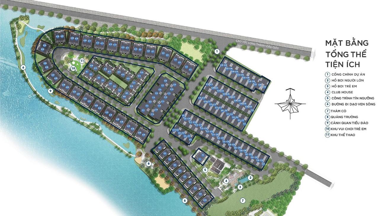 Mặt bằng dự án nhà phố Palm Marina Quận 9 Đường 15A5 Long Trường chủ đầu tư Novaland
