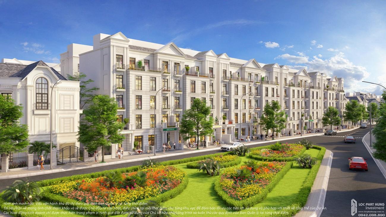Phối cảnh tổng thể dự án nhà phố The Manhattan Glory Quận 9 Đường Nguyễn Xiển chủ đầu tư Vingroup