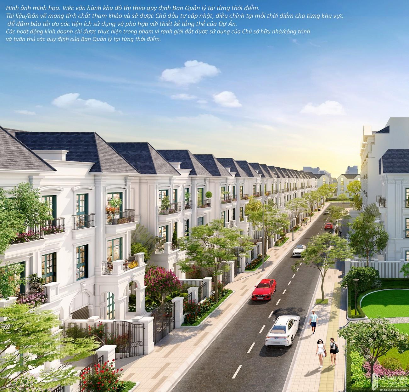 Mặt bằng dự án nhà phố The Manhattan Glory Quận 9 Đường Nguyễn Xiển chủ đầu tư Vingroup