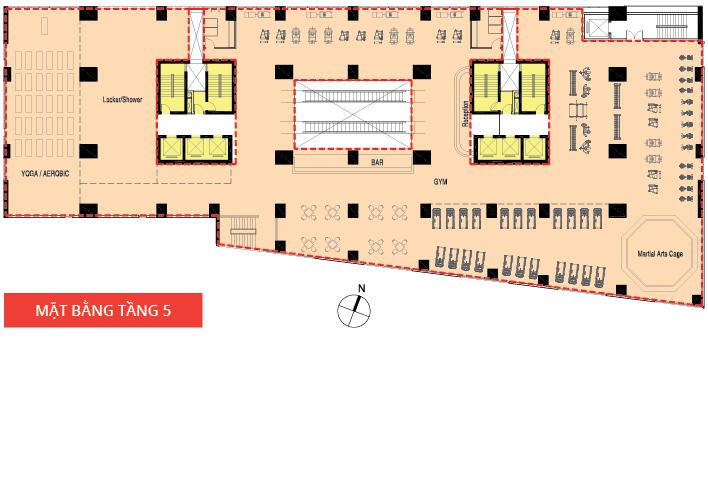 Mặt bằng thiết kế chi tiết căn hộ Lucky Palace Novaland Quận 6