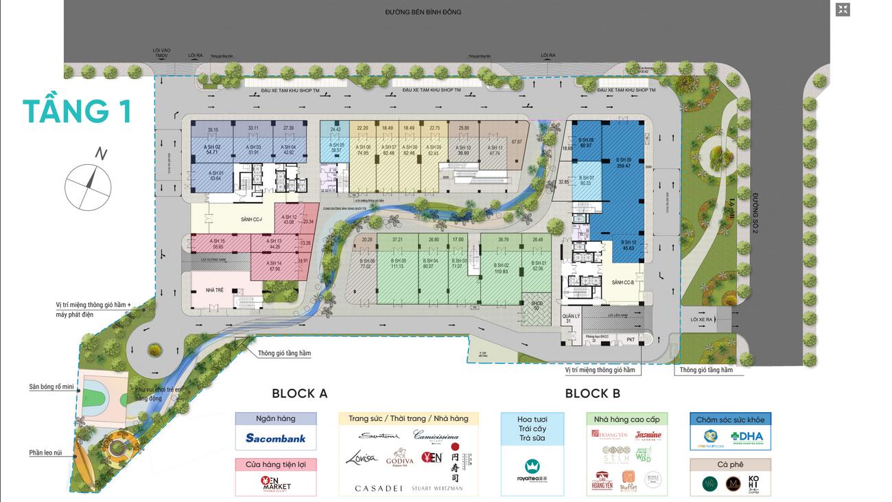 Mặt bằng dự án căn hộ D-Aqua Quận 8 chủ đầu tư DHA Corp