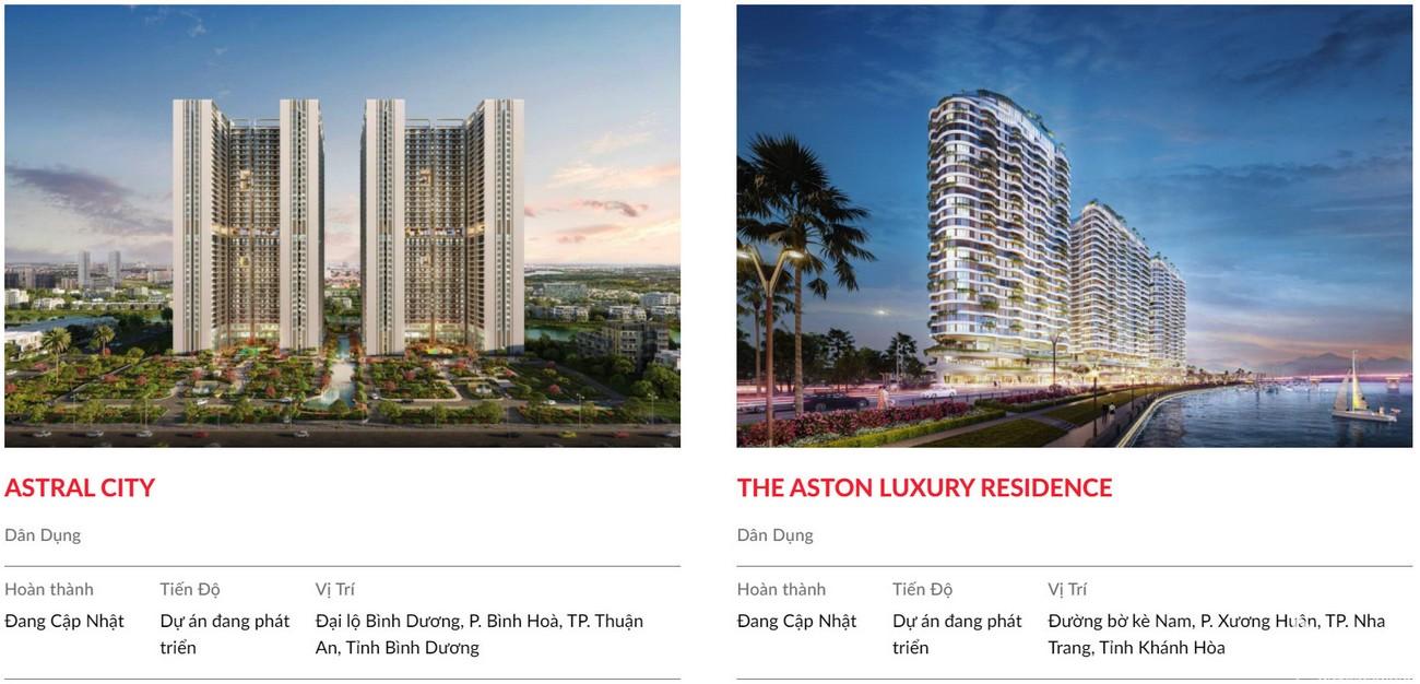 Một số dự án nổi bật của Danh Khôi Group - chủ đầu tư dự án The Aston Nha Trang