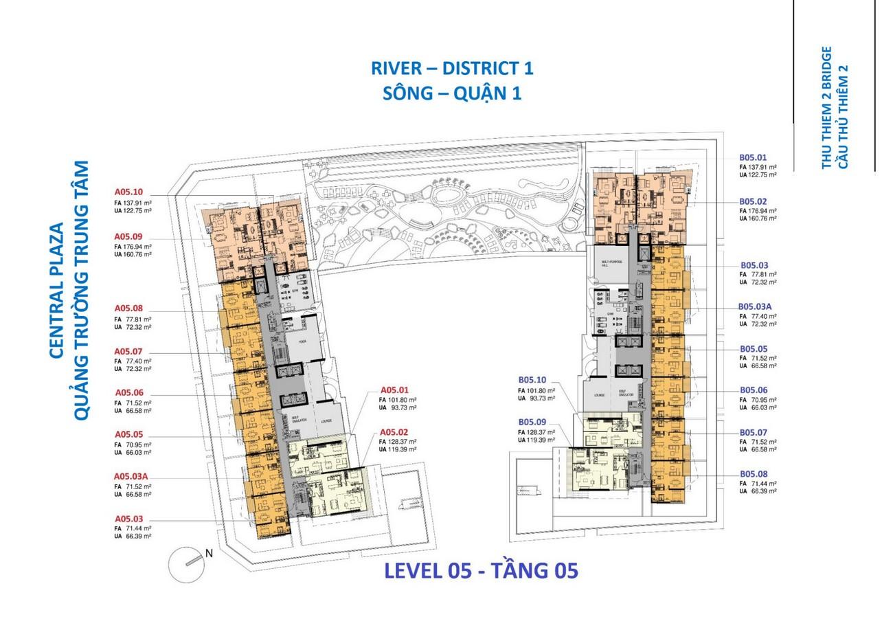 Mặt bằng dự án căn hộ chung cư The Opera Residence Thủ Thiêm chủ đầu tư Sơn Kim Land
