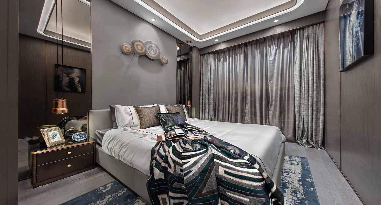 Phòng ngủ căn hộ Goldora Plaza Nhà Bè