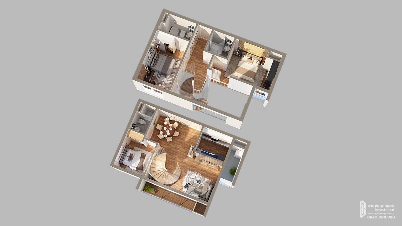 Thiết kế căn hộ Duplex dự án D-Homme