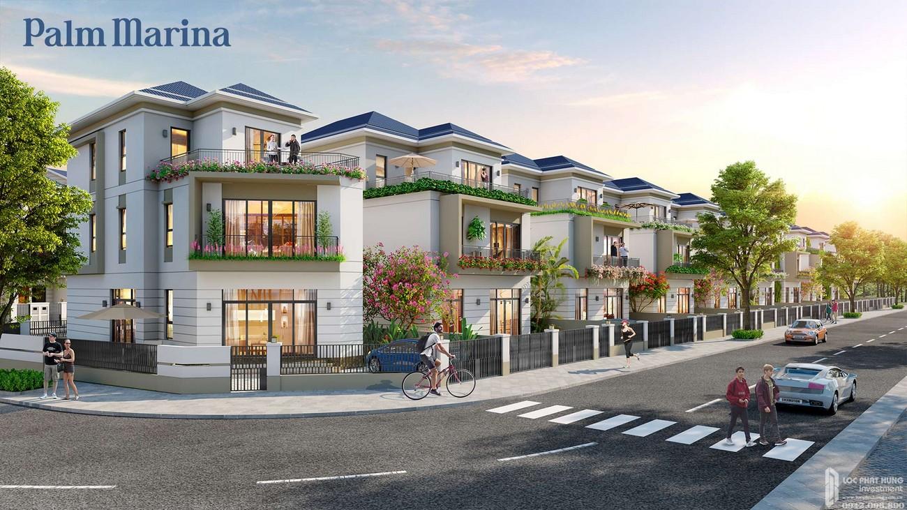 Nhà mẫu dự án nhà phố Palm Marina Quận 9 Đường 15A5 Long Trường chủ đầu tư Novaland