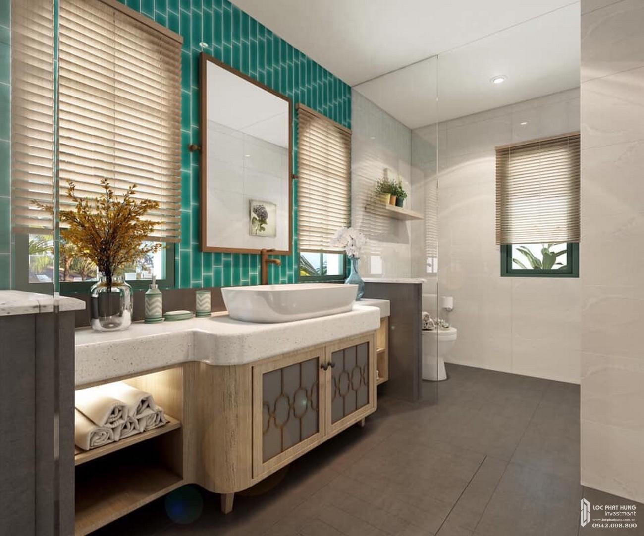 Nhà vệ sinh đầy đủ tiện nghi của phong cách Địa Trung Hải nhà phát triển Novaland