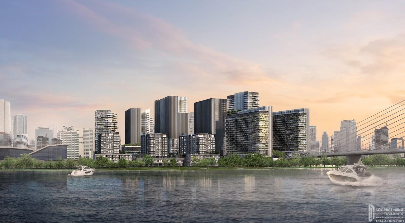 Phối cảnh tổng thể dự án căn hộ chung cư The Galleria Residence Quận 2 Đường An Khánh chủ đầu tư Sonkim Land