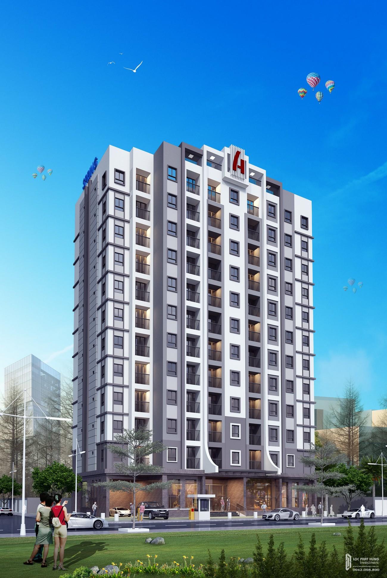 Phối cảnh tổng thể dự án căn hộ chung cư The Seasons Apartment Thuận An Đường QL13 chủ đầu tư An Huy Construction