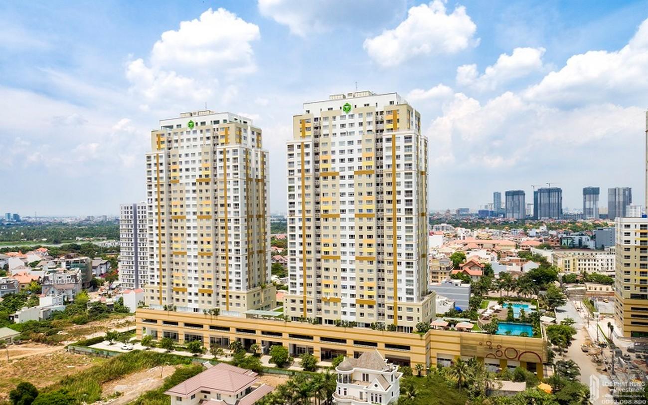 Phối cảnh tổng thể dự án căn hộ chung cư Tropic Garden Quận 2 Đường 66 chủ đầu tư Novaland