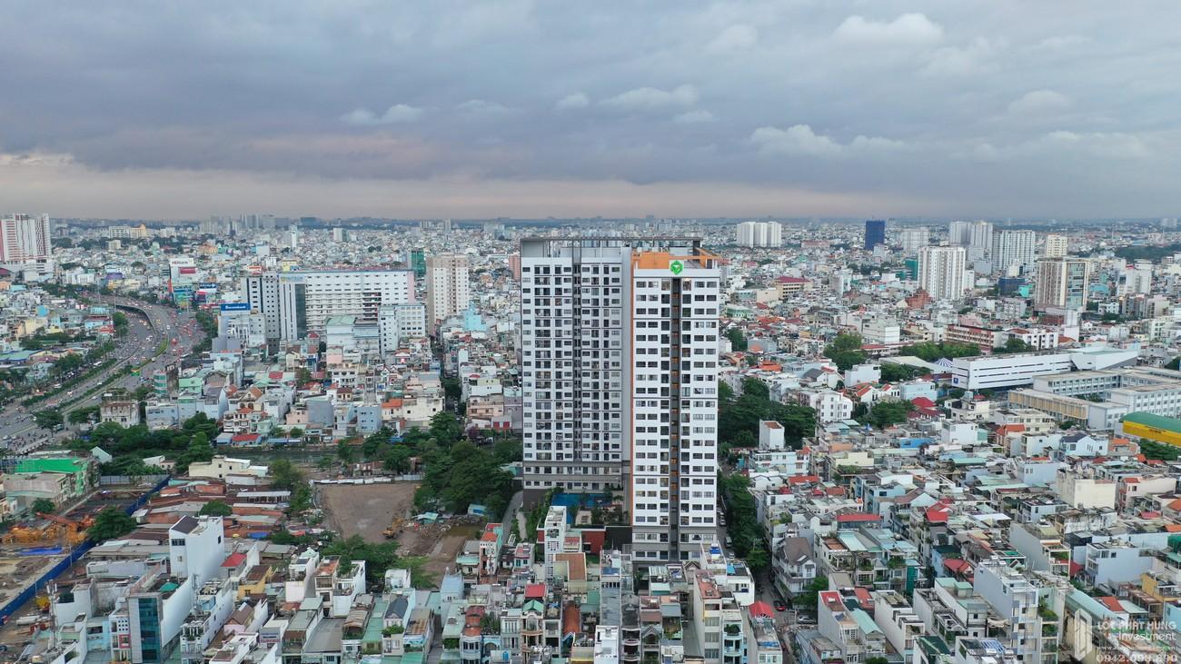 Phối cảnh tổng thể dự án căn hộ chung cư Wilton Tower Bình Thạnh Đường 71/3 Nguyễn Văn Thương chủ đầu tư Novaland