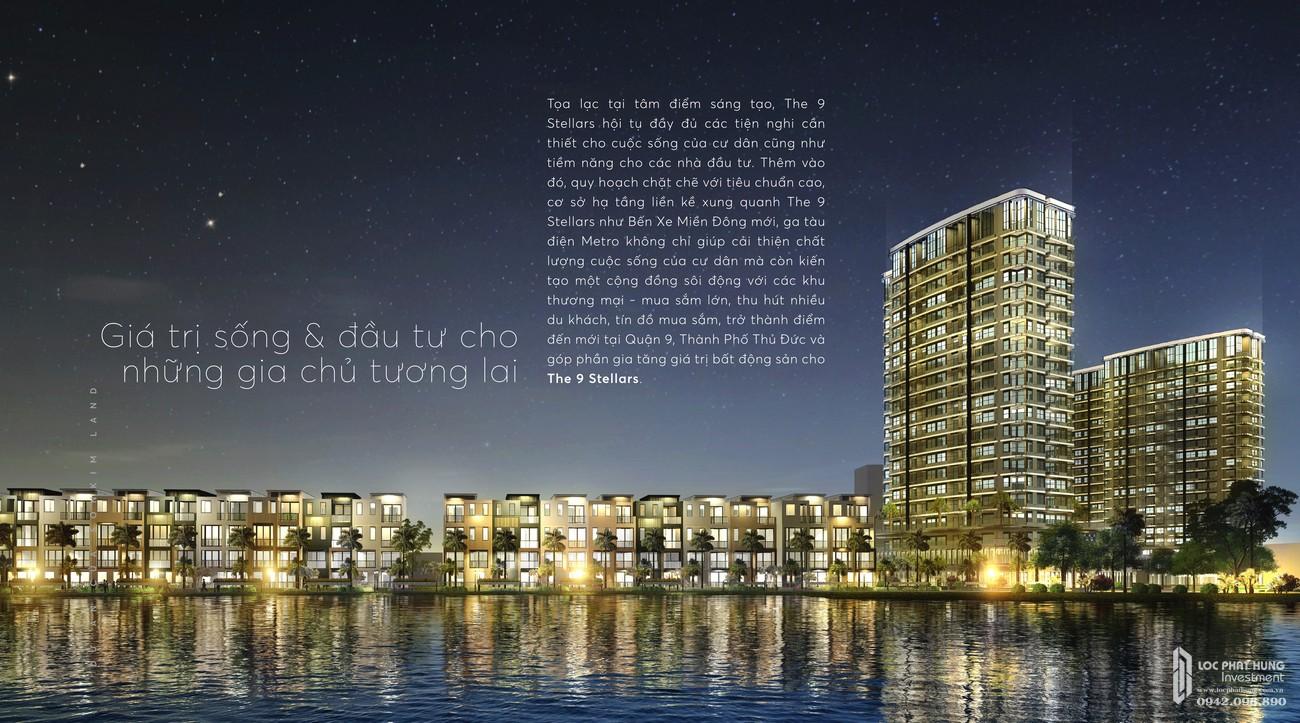 Phối cảnh tổng thể dự án căn hộ chung cư The 9 Stellars Quận 9 Đường Hoàng Hữu Nam chủ đầu tư Ngân Thạnh