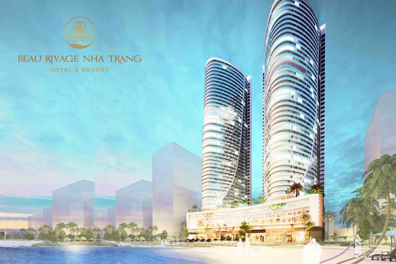 Phối cảnh tổng thể dự án Condotel Beau Rivage Nha Trang Đường Trần Phú chủ đầu tư Tropicana Nha Trang
