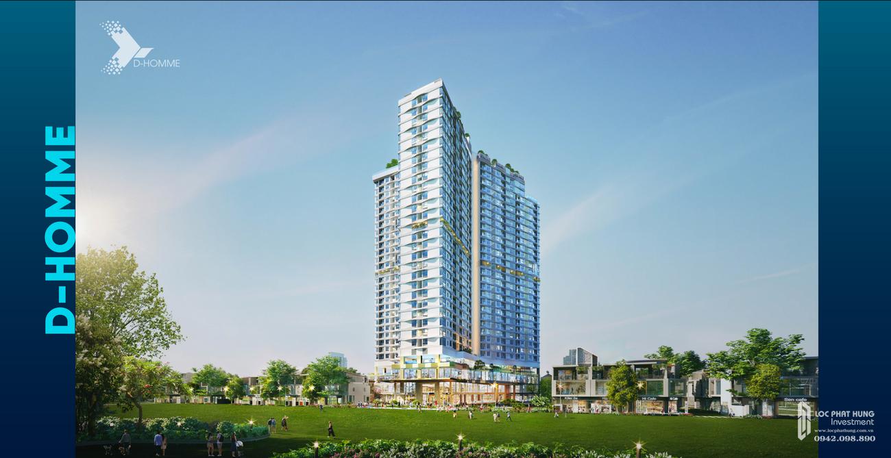 Phối cảnh dự án căn hộ chung cư D Homme Quận 6 Đường Hồng Bàng chủ đầu tư DHA