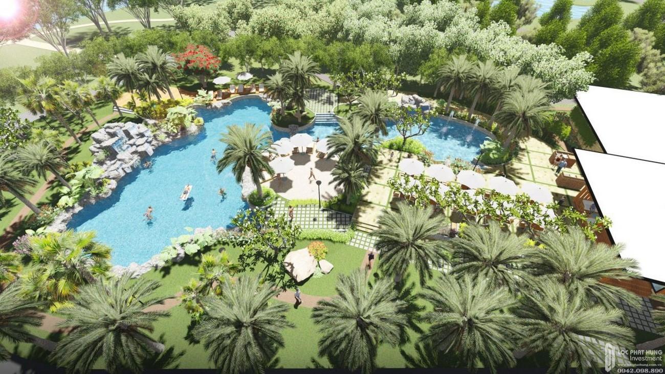 Phối cảnh tổng thể dự án nhà phố Palm Marina Quận 9 Đường 15A5 Long Trường chủ đầu tư Novaland