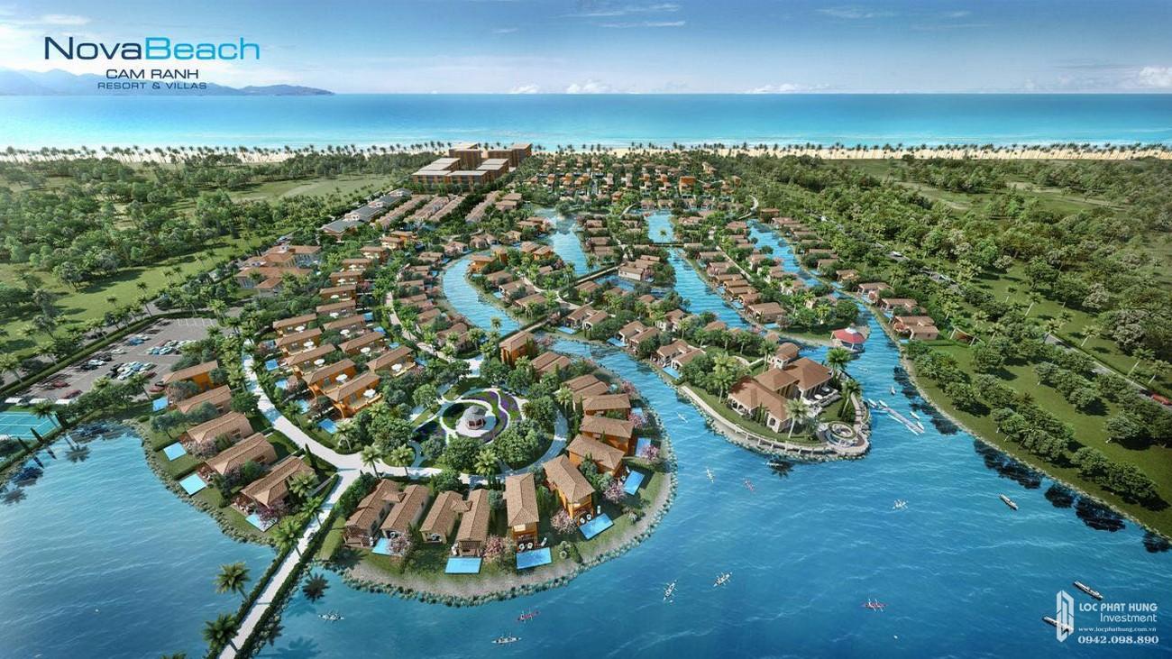 Phối cảnh tổng thể dự án NovaBeach Cam Ranh Resort & Villas nhà phát triển Novaland